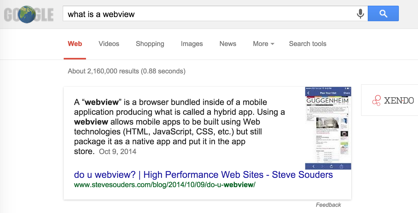 What is a WebView